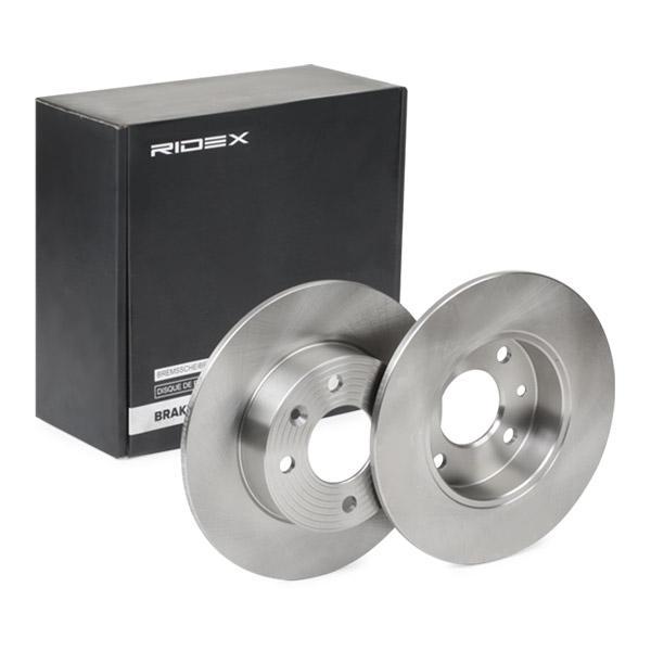 RENAULT TWINGO 2020 Scheibenbremsen - Original RIDEX 82B0696 Ø: 238,0mm, Bremsscheibendicke: 8mm