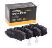 Bromsbeläggssats skivbroms 402B0090 som är helt RIDEX otroligt kostnadseffektivt