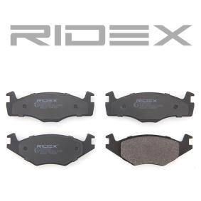 402B0260 Bremsbeläge RIDEX 402B0260 - Große Auswahl - stark reduziert