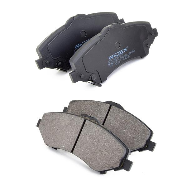 402B0257 Bremsbelagsatz RIDEX - Markenprodukte billig