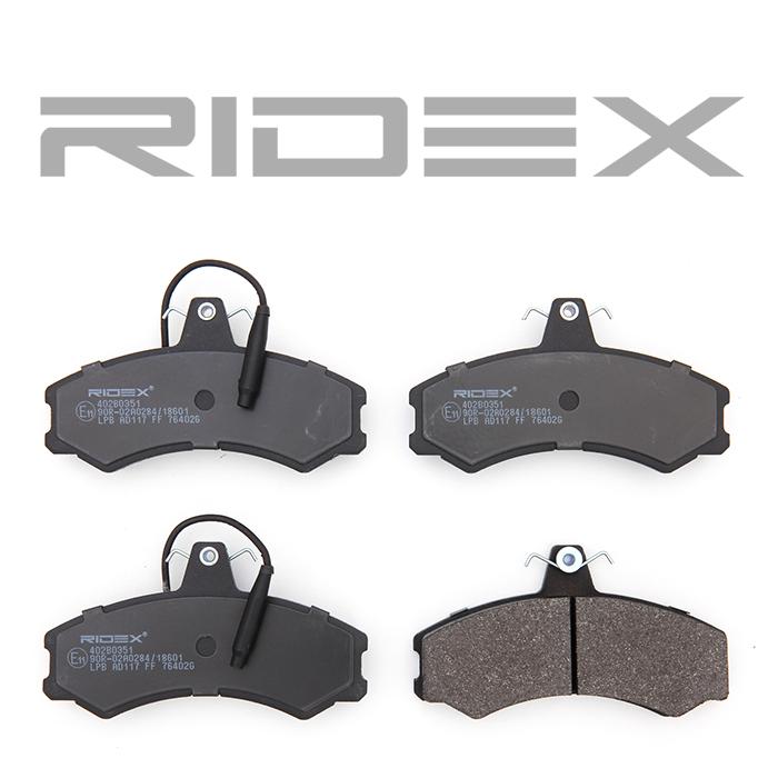 402B0351 Bremsbeläge RIDEX 402B0351 - Große Auswahl - stark reduziert