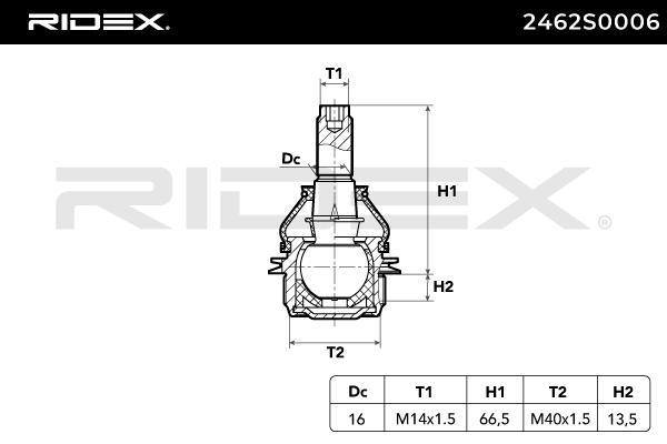 RIDEX   Trag- / Führungsgelenk 2462S0006