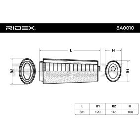 8A0010 Zracni filter RIDEX originalni kvalitetni