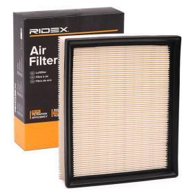 Filtro aria 8A0055 con un ottimo rapporto RIDEX qualità/prezzo