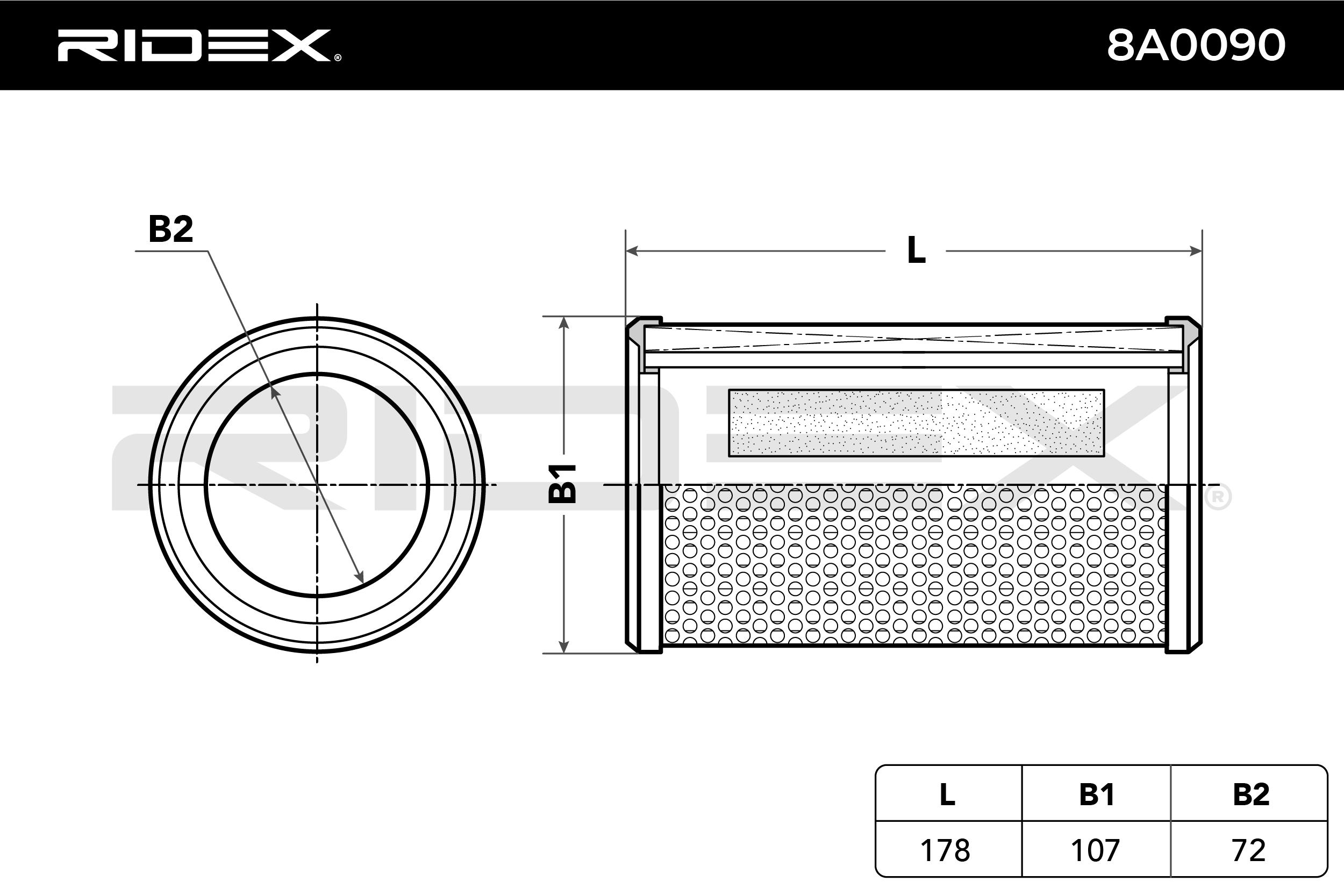 Original Zracni filter 8A0090 Renault