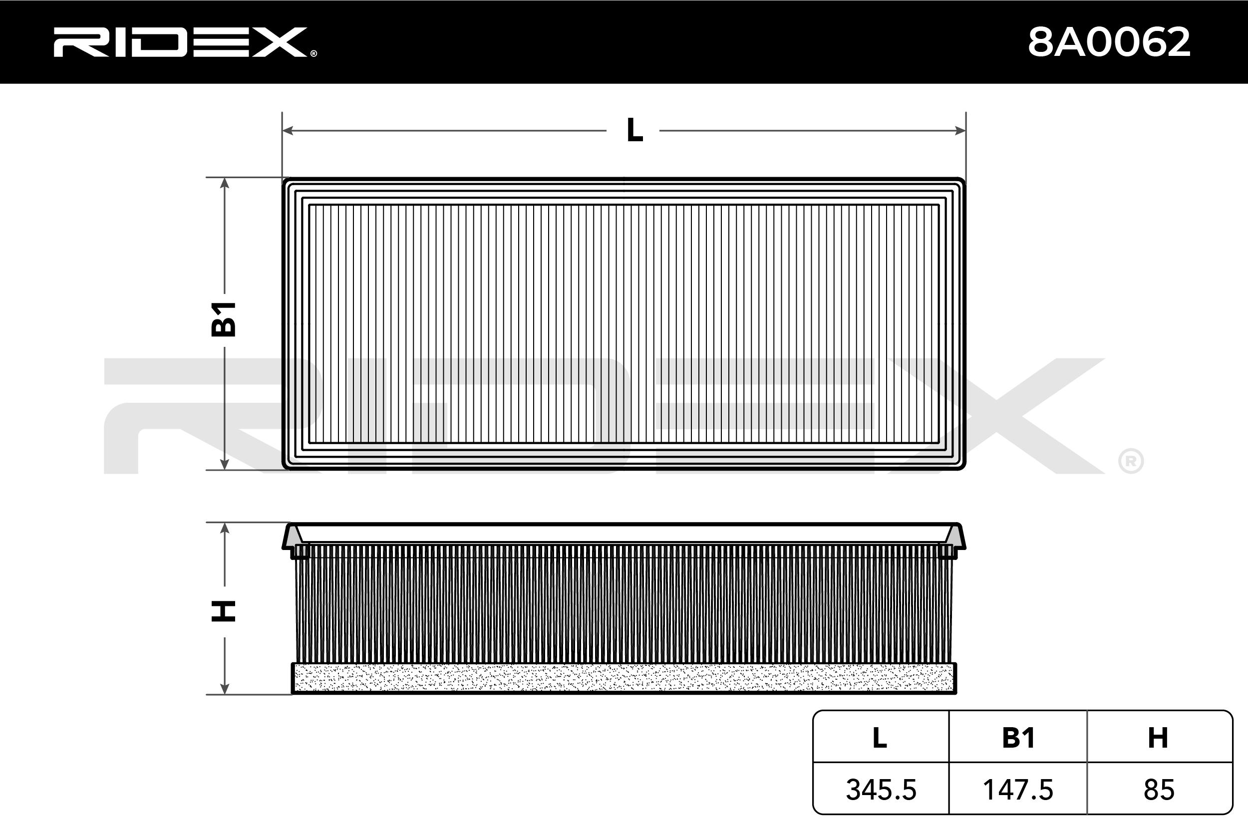 Original Zracni filter 8A0062 Lancia