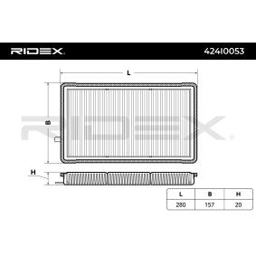 Comprar y reemplazar Filtro, aire habitáculo RIDEX 424I0053