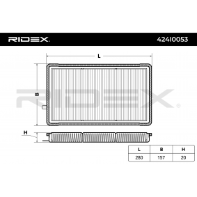 Koop en vervang Interieurfilter RIDEX 424I0053