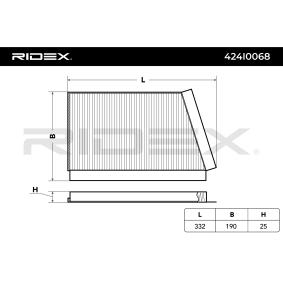 Kupte a vyměňte Filtr, vzduch v interiéru RIDEX 424I0068