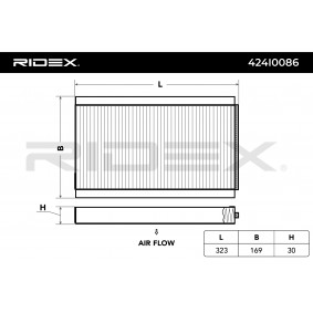 buy and replace Filter, interior air RIDEX 424I0086