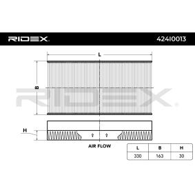 ostke ja asendage Filter, salongiõhk RIDEX 424I0013
