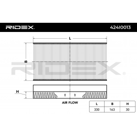 Comprar y reemplazar Filtro, aire habitáculo RIDEX 424I0013