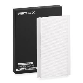 Filtr, wentylacja przestrzeni pasażerskiej RIDEX 424I0024 kupić i wymienić