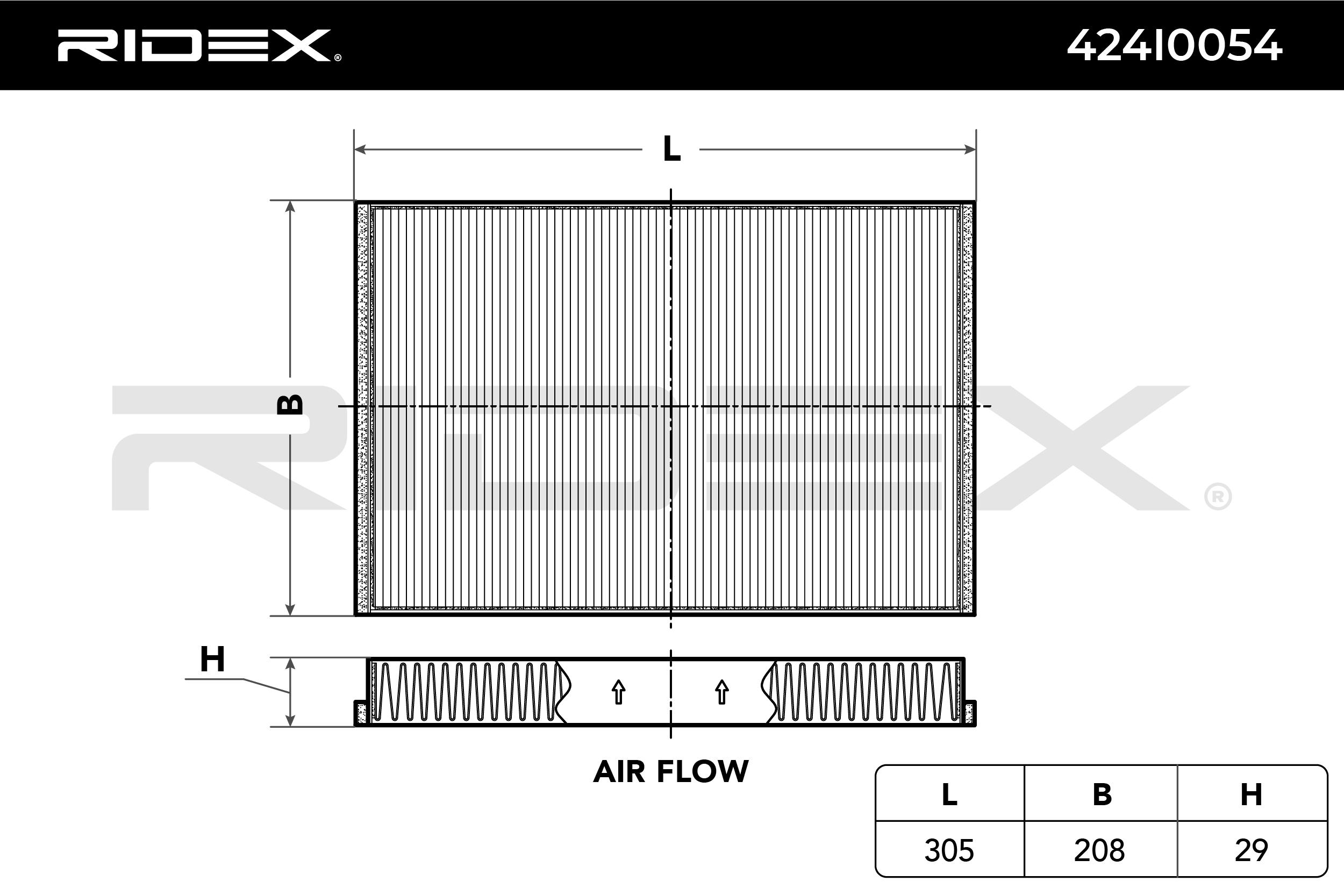 RIDEX Филтър, въздух за вътрешно пространство 424I0054
