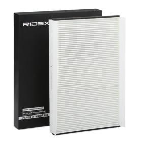Filtro, Aria abitacolo RIDEX 424I0238 comprare e sostituisci