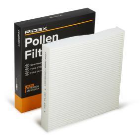 Compre e substitua Filtro, ar do habitáculo RIDEX 424I0132