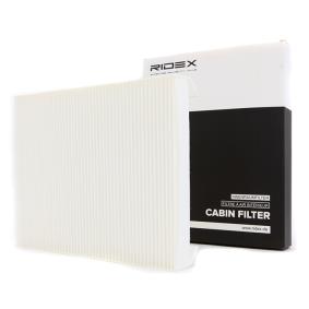 Kupte a vyměňte Filtr, vzduch v interiéru RIDEX 424I0103