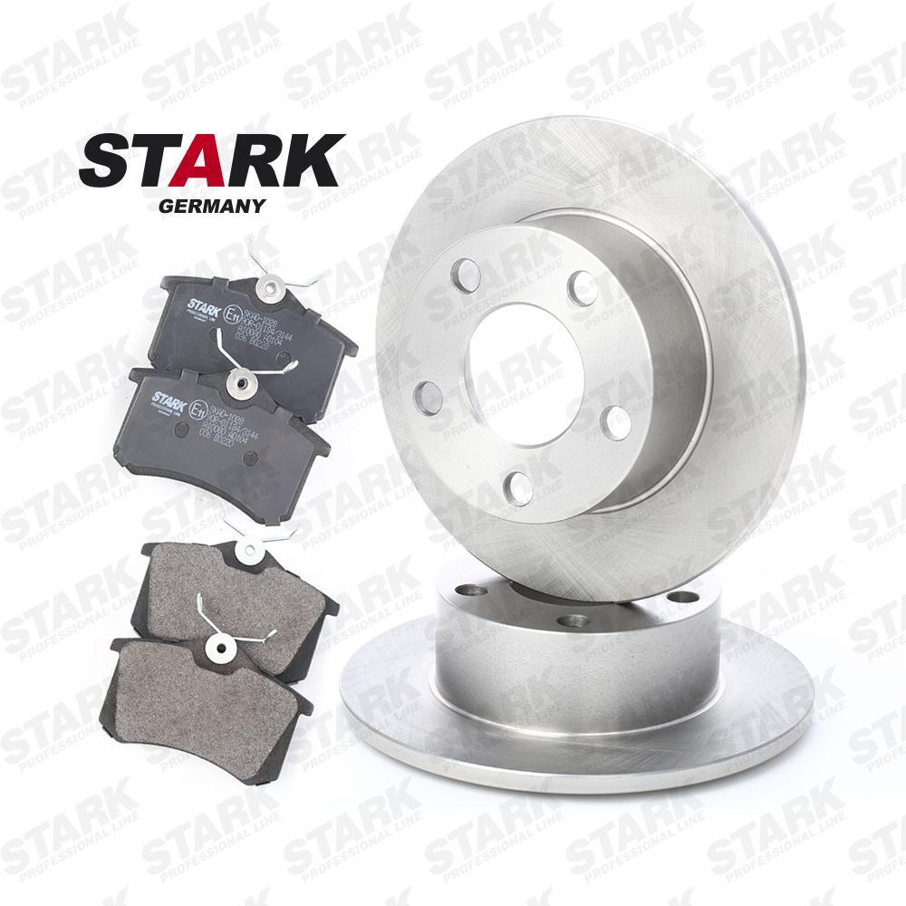 SKBK-1090003 STARK Dual Kit Hinterachse, Bremsscheibenart: Voll, exkl. Verschleißwarnkontakt Bremsscheibendicke: 10mm Bremsensatz, Scheibenbremse SKBK-1090003 günstig kaufen