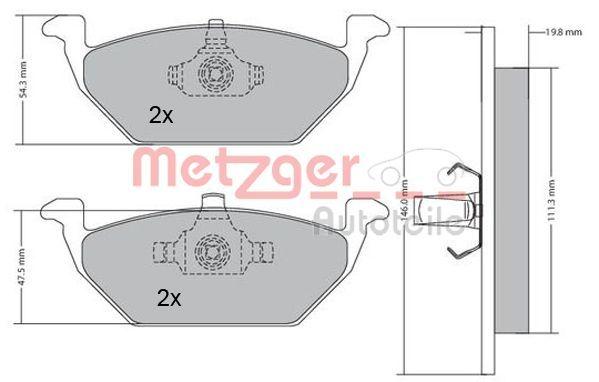 OE Original Bremsbeläge 1170027 METZGER