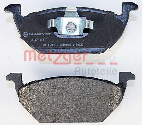 1170027 Bremsbelagsatz METZGER - Markenprodukte billig