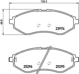 23974 BREMBO mit akustischer Verschleißwarnung Höhe: 48,9mm, Breite: 133,2mm, Dicke/Stärke: 17,8mm Bremsbelagsatz, Scheibenbremse P 10 057 günstig kaufen
