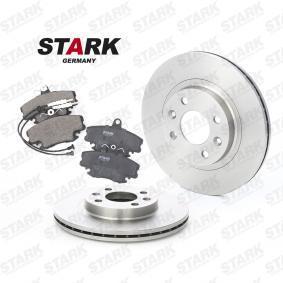 SKBK-1090016 STARK Vorderachse, Bremsscheibenart: belüftet, inkl. Verschleißwarnkontakt Bremsensatz, Scheibenbremse SKBK-1090016 günstig kaufen