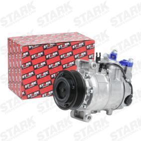 SKKM-0340079 STARK PAG 46, Kältemittel: R 134a Riemenscheiben-Ø: 100mm, Anzahl der Rillen: 6 Kompressor, Klimaanlage SKKM-0340079 günstig kaufen