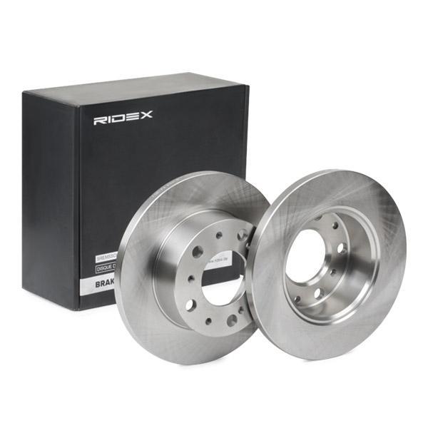 Køb 82B0486 RIDEX foraksel, fuld, uden hjulbolte, uden hjulnav Ø: 256,0mm, Bremsscheibendicke: 16mm Bremseskive 82B0486 billige