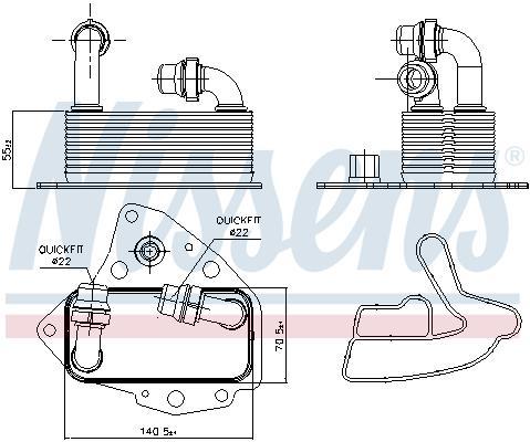 Ölkühler Wärmetauscher 90803 Opel INSIGNIA 2011