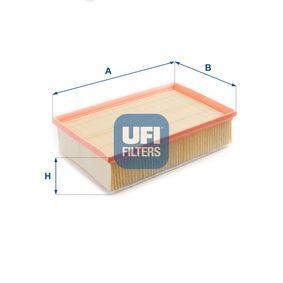 30.587.00 UFI L: 292,0mm, B: 177,0mm, H: 80,0mm Luftfilter 30.587.00 köp lågt pris