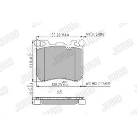 573351 JURID für Verschleißwarnanzeiger vorbereitet Höhe 1: 113,9mm, Dicke/Stärke: 19,2mm Bremsbelagsatz, Scheibenbremse 573351J günstig kaufen