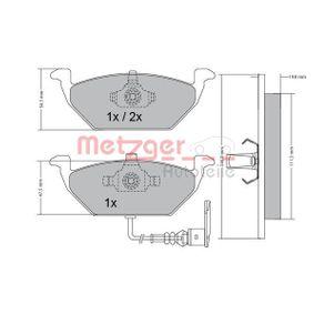 063321 METZGER Vorderachse, mit integriertem Verschleißsensor, mit Anti-Quietsch-Blech Höhe: 54,8mm, Dicke/Stärke: 19,5mm Bremsbelagsatz, Scheibenbremse 1170002 günstig kaufen