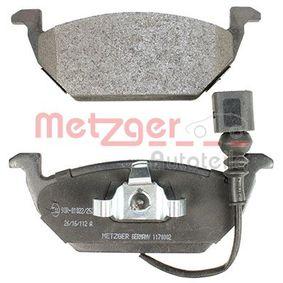 1170002 Bremsbelagsatz, Scheibenbremse METZGER - Markenprodukte billig