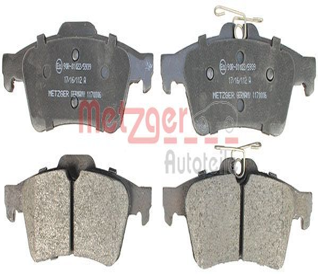 1170006 Bremsbelagsatz METZGER - Markenprodukte billig