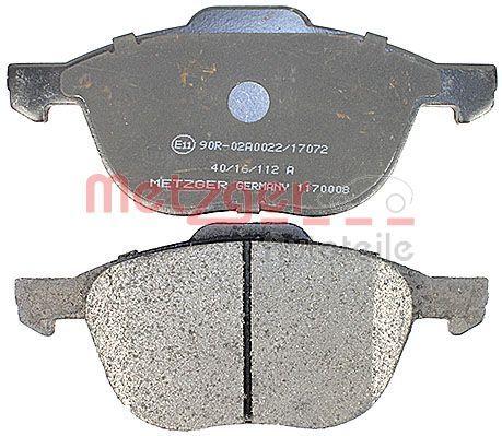 1170008 Bremsbelagsatz METZGER - Markenprodukte billig