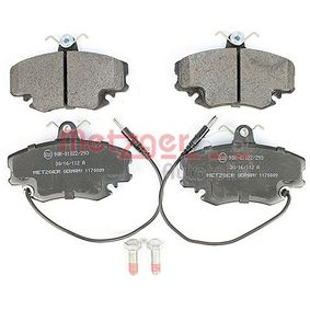 21463 METZGER Vorderachse, mit integriertem Verschleißsensor, mit Bremssattelschrauben, mit Anti-Quietsch-Blech Höhe: 64mm, Dicke/Stärke: 18mm Bremsbelagsatz, Scheibenbremse 1170009 günstig kaufen