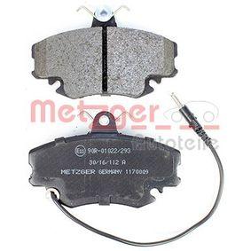 1170009 Bremsbelagsatz, Scheibenbremse METZGER - Markenprodukte billig