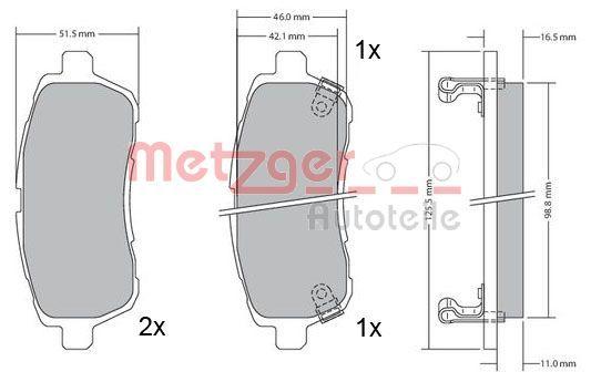 Bremsbelagsatz METZGER 1170017