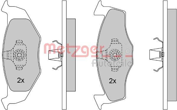 OE Original Bremsbelagsatz 1170023 METZGER
