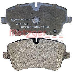 1170024 Bremsbelagsatz METZGER - Markenprodukte billig