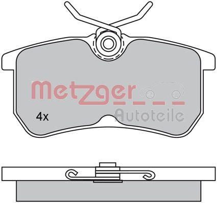 Bremsbeläge METZGER 1170025