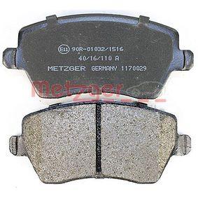 1170029 Bremsbelagsatz, Scheibenbremse METZGER - Markenprodukte billig