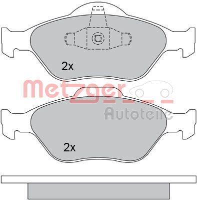 OE Original Bremsbelagsatz Scheibenbremse 1170045 METZGER