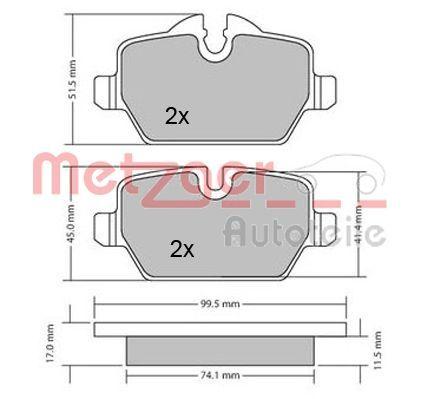 Bremsklötze METZGER 1170052
