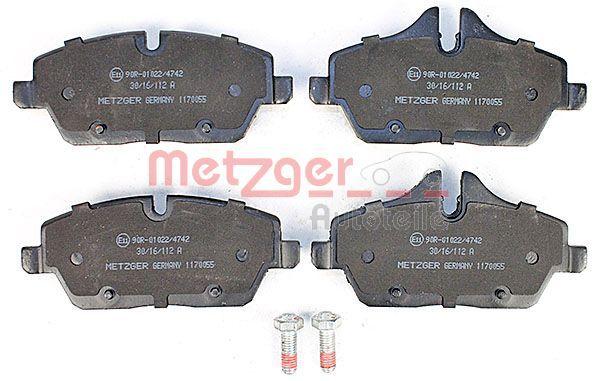 METZGER   Bremsbelagsatz, Scheibenbremse 1170055