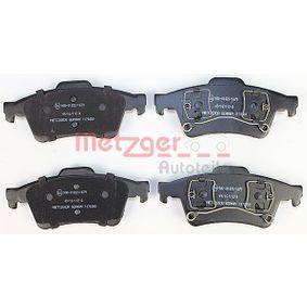 1170080 Bremsbelagsatz, Scheibenbremse METZGER 23482 - Große Auswahl - stark reduziert