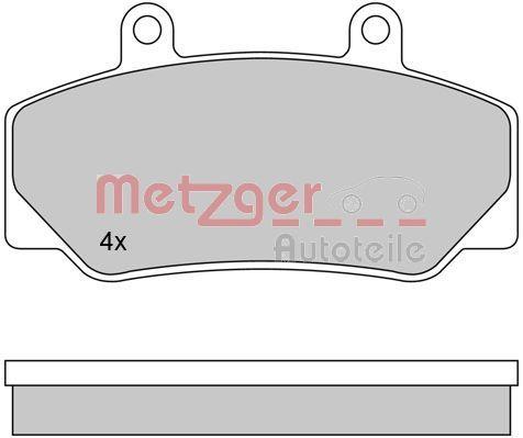 21233 METZGER Vorderachse, inkl. Verschleißwarnkontakt Höhe: 62mm, Breite: 113,8mm, Dicke/Stärke: 16,5mm Bremsbelagsatz, Scheibenbremse 1170094 günstig kaufen