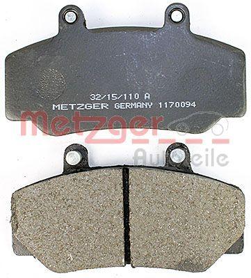 1170094 Bremsbeläge METZGER 21232 - Große Auswahl - stark reduziert
