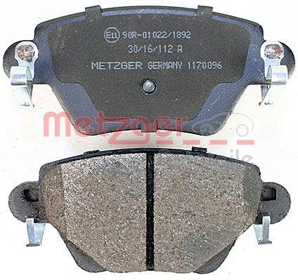 1170096 Bremsbeläge METZGER 1170096 - Große Auswahl - stark reduziert