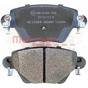 1170096 Bremsbelagsatz, Scheibenbremse METZGER - Markenprodukte billig